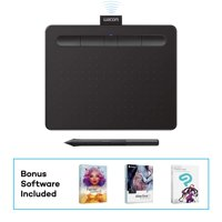 """Wacom CTL4100WLK0 Intuos Wireless Graphics Drawing Tablet with 3 Bonus Software Included, 7.9"""" x 6.3"""", Black (Renewed)"""