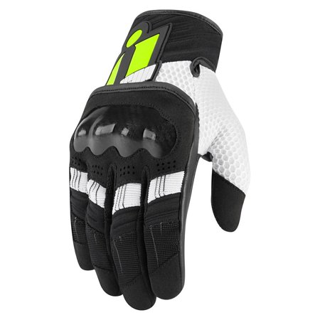 Icon Overlord Mens Motorcycle Gloves Hi Viz (Icon Super Duty Motorcycle Glove)