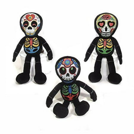 Fiesta Toys Dia De Los Muertos Skeleton 3 Sets Halloween My Stuffed Plush Animal Pet (Wow Halloween Pets)