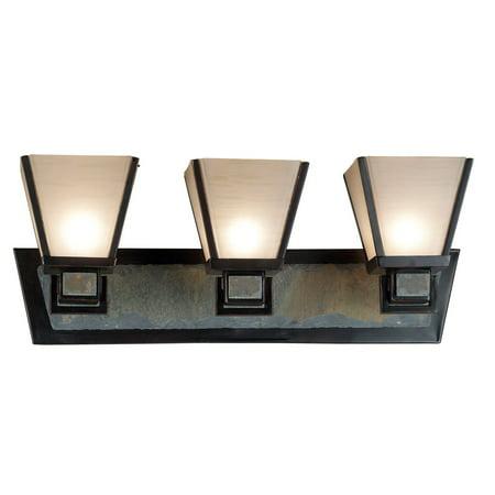 Kenroy 91603orb clean slate 3 light vanity light bar 24w in kenroy 91603orb clean slate 3 light vanity light bar 24w in bronze aloadofball Images