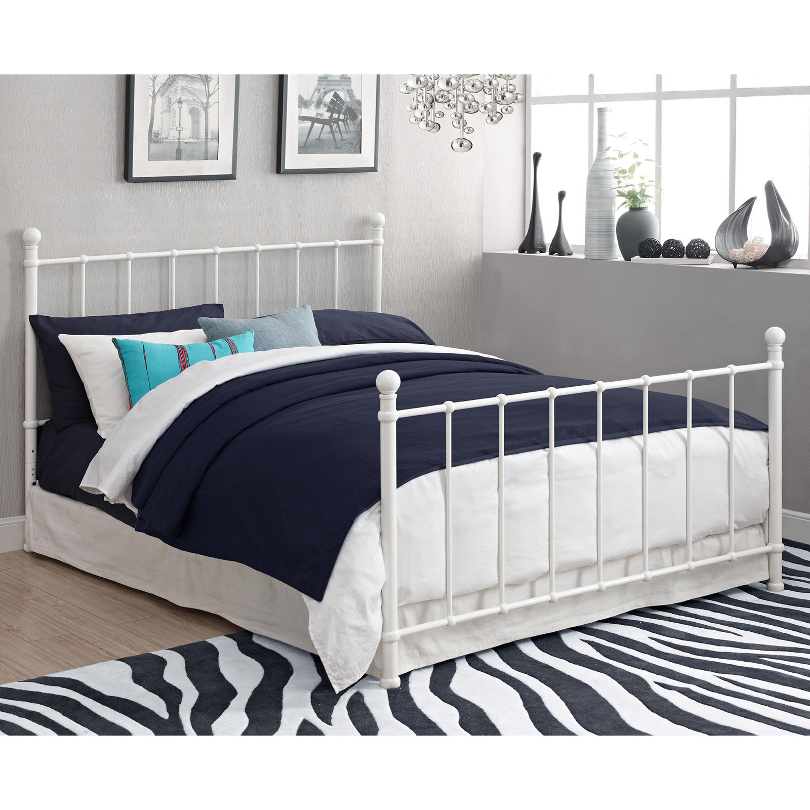 BrickMill Metal Bed Frame, Full Size, Multiple Colors