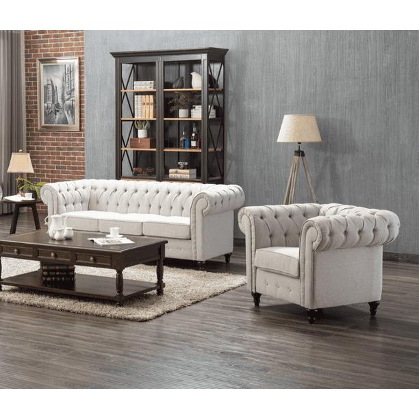 US Pride Furniture Teressa 2 Piece Living Room Set, Sofa, Chair