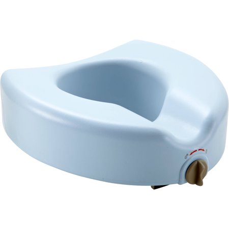 Medline Elevated Locking Toilet seat with Microban Antimicrobial Treatment