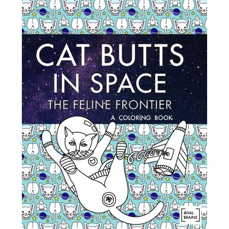 Halloween Cat Coloring Pages To Print (Cat Butts In Space (The Feline Frontier!): A Coloring Book)