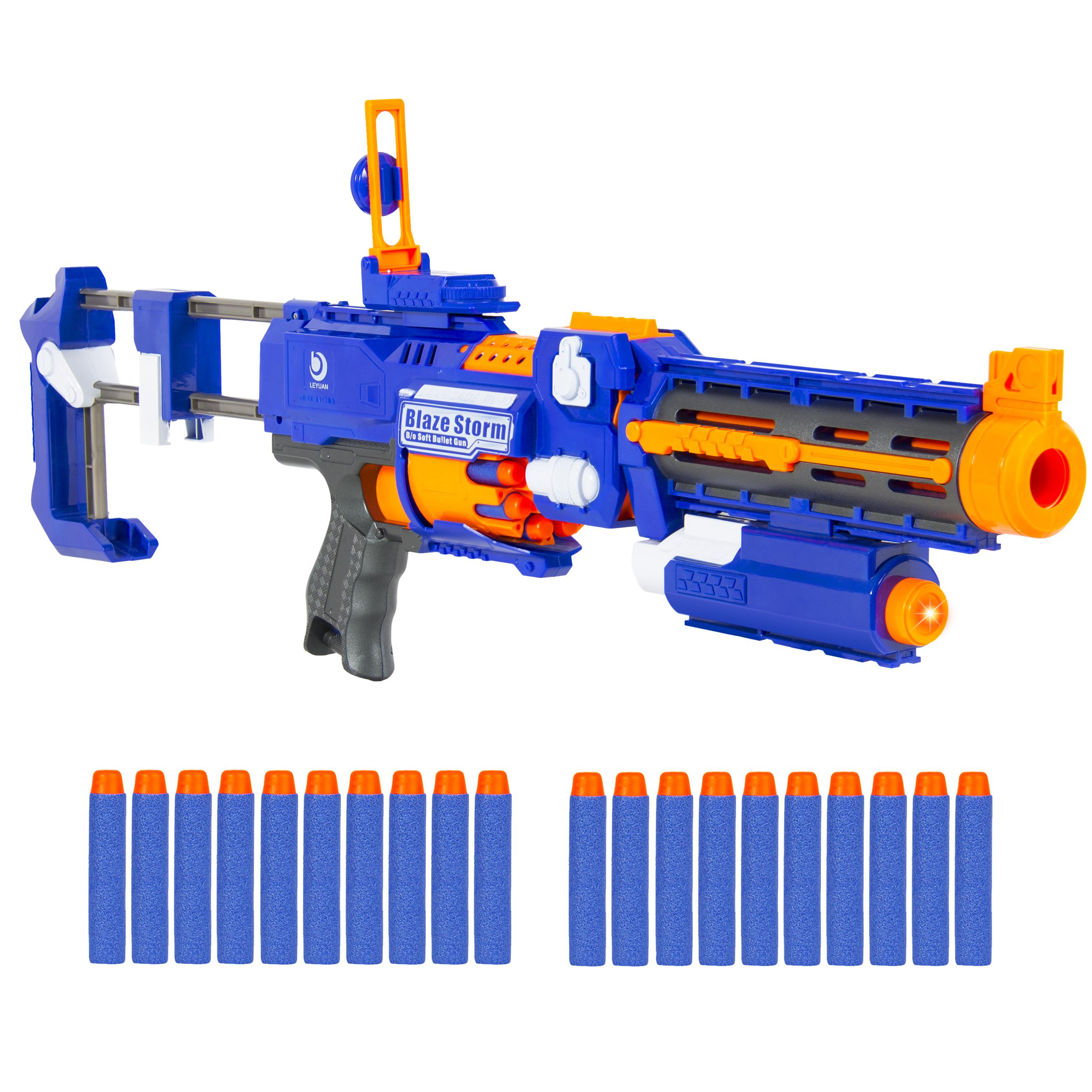 Blaze Storm Gun big gun 40 soft bullets gun with. kids gun soft bullets gun
