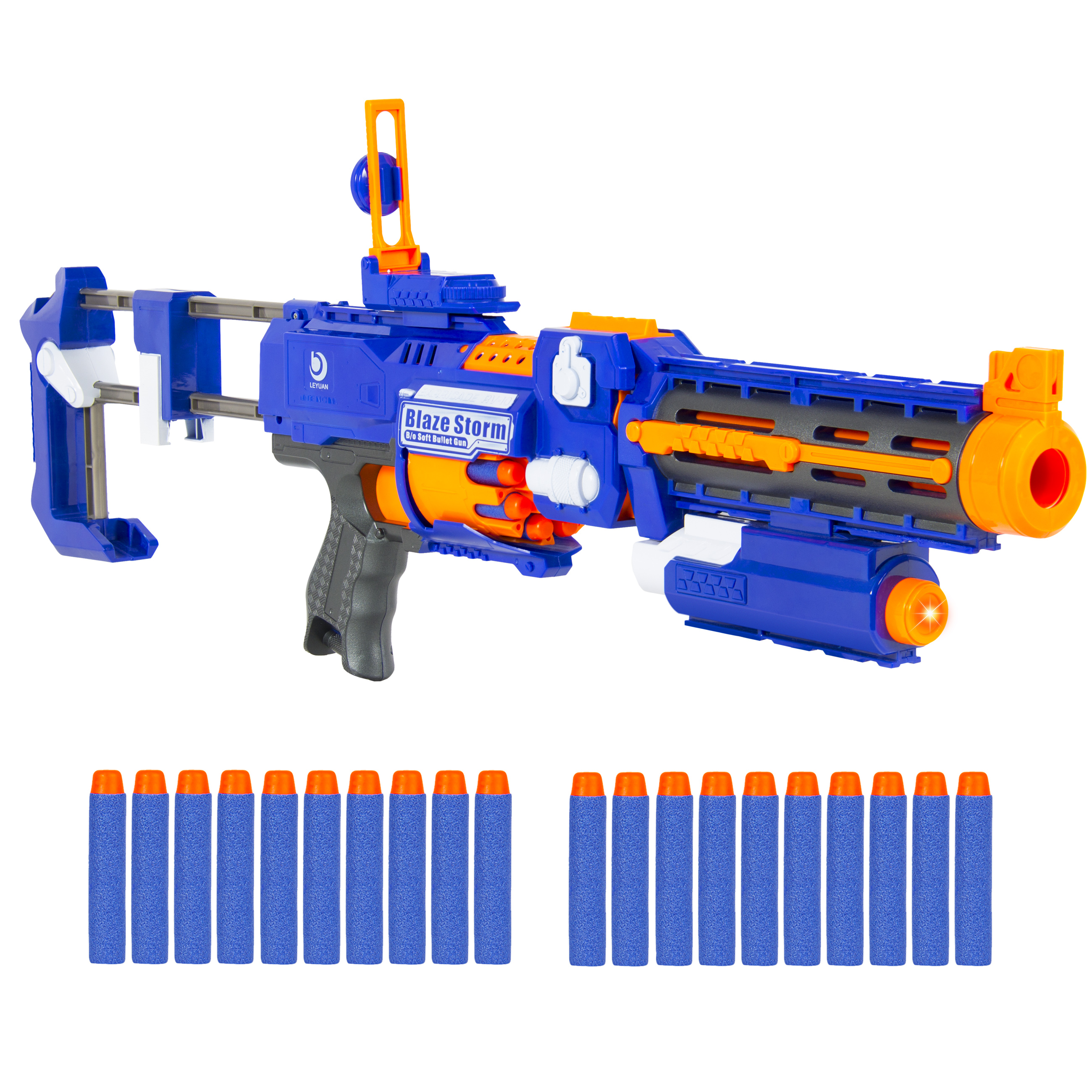 "20"" Foam Bullet Blaster Toy Gun, Long Distance Shooing Range, 20 Darts Included"