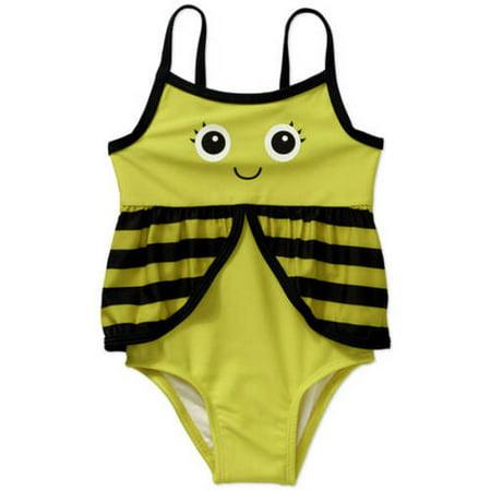 ea06820614 OP - Toddler Girl Bumble Bee One-Piece Swimsuit-Online Exclusive -  Walmart.com