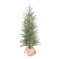 """Holiday Time Green Fir Tree with Burlap Base Christmas Decoration, 48"""""""