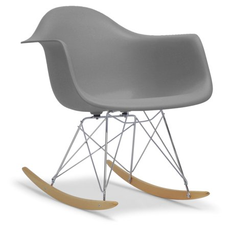 Sensational Baxton Studio Dario Plastic Mid Century Modern Shell Rocking Chair Forskolin Free Trial Chair Design Images Forskolin Free Trialorg