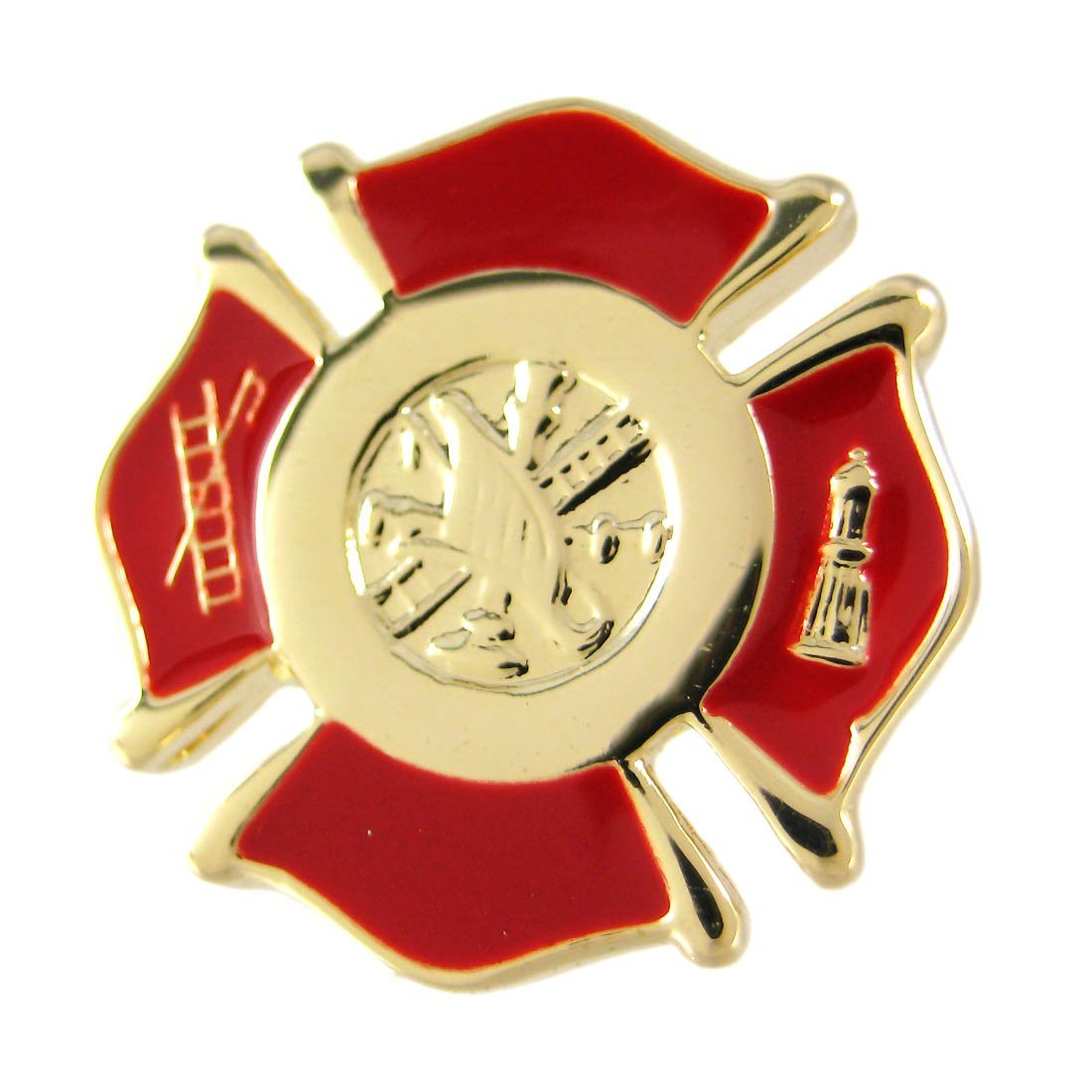 Gold Plated Firefighter Cufflinks Fire - image 1 of 4