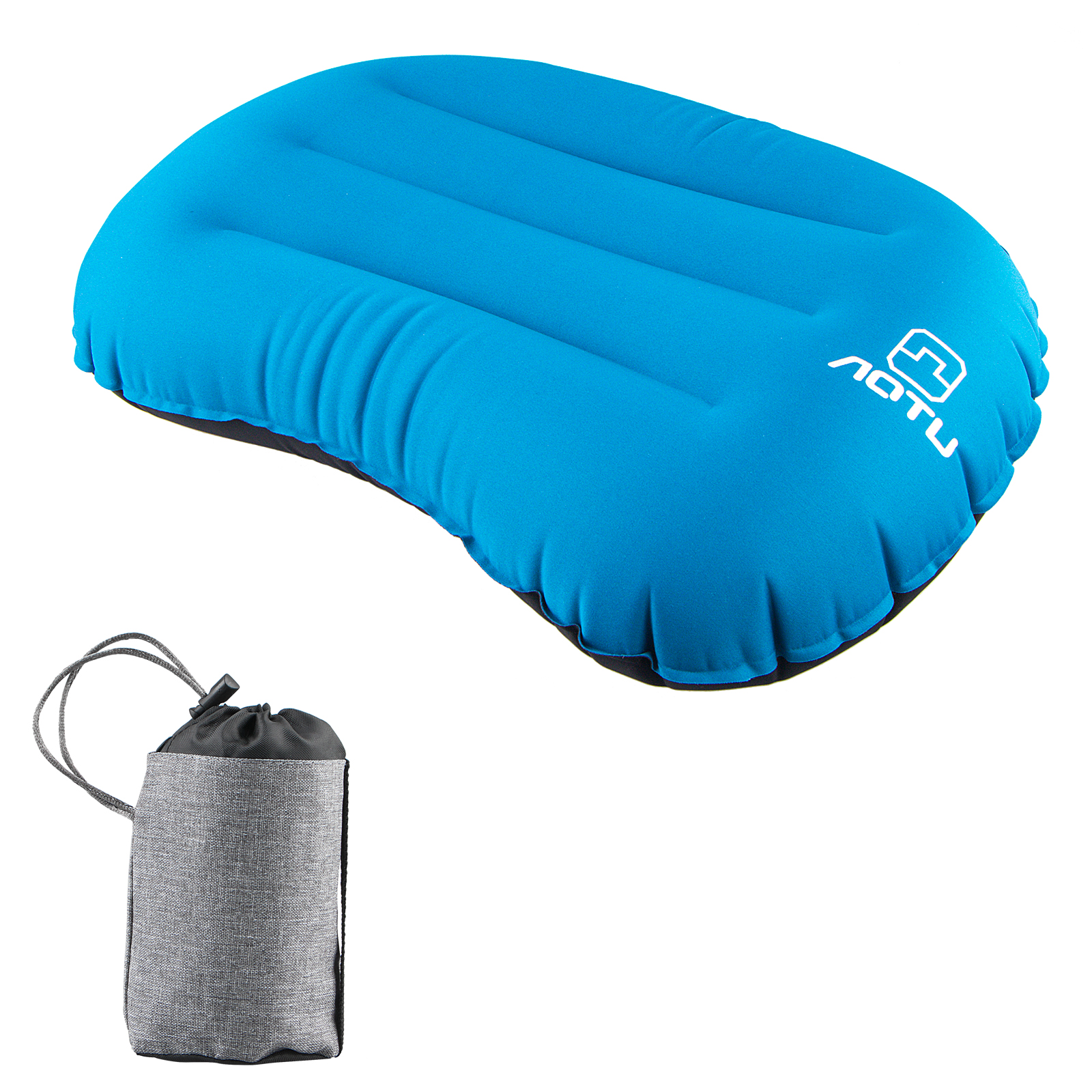EEEKit Air Compressible Portable Blow Up Ultralight Inflatable Camping Outdoor Pillow, Inflating Comfortable Compact Lightweight Pillow for Neck & Lumbar Support and a Good Night Sleep, Backpacking