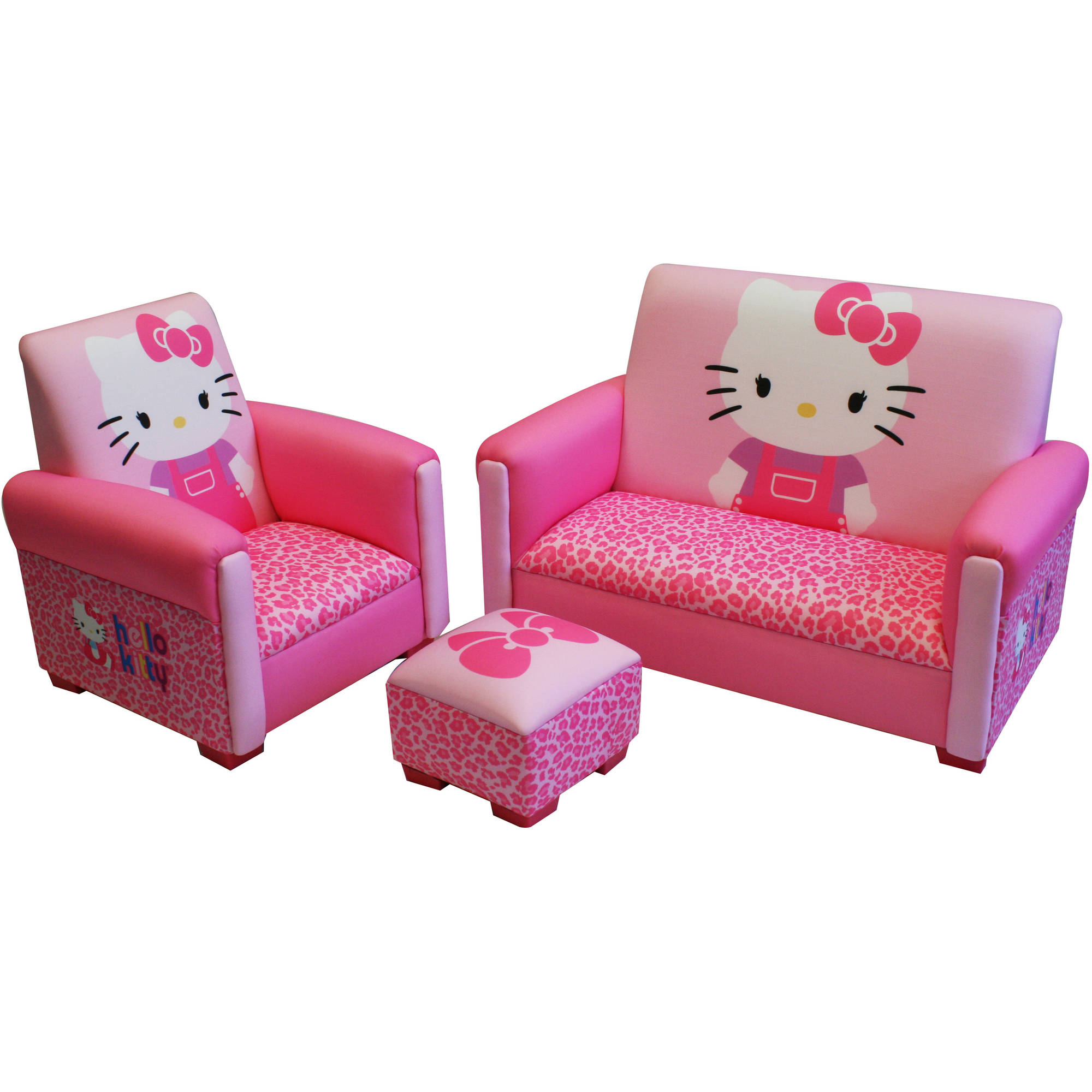 Attrayant Hello Kitty Bows Toddler 3 Piece Sofa, Chair And Ottoman Set