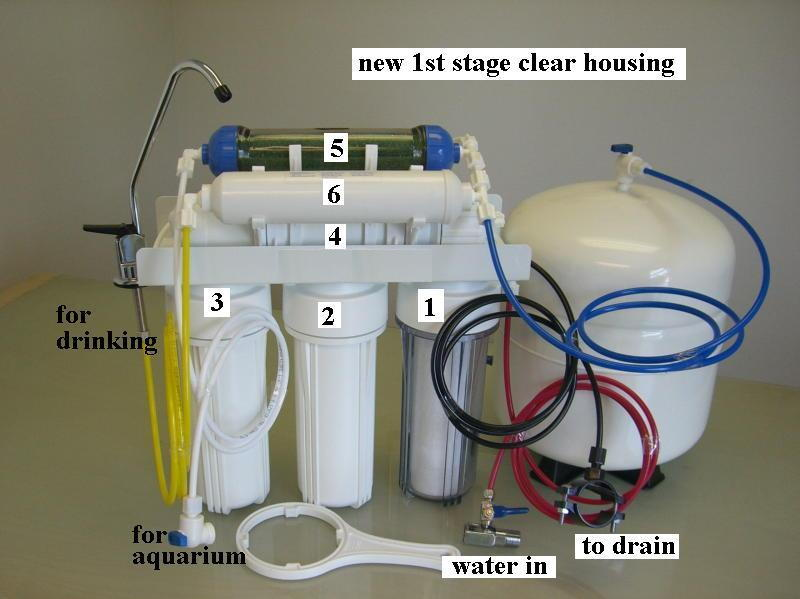 Watergeneral RD 106 6 Stage Aquarium And Home Drinking 100GPD Reverse  Osmosis RO +