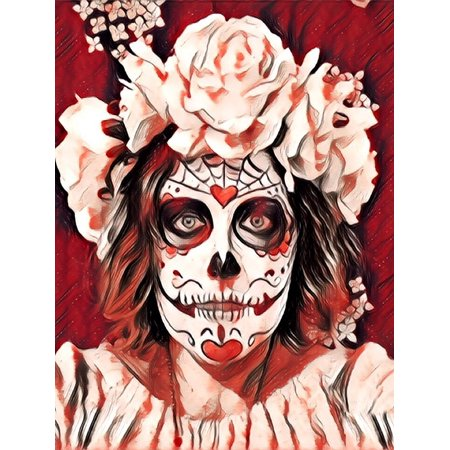 Canvas Print Skeleton Day of The Dead Sugar Skull Halloween Stretched Canvas 10 x 14](Halloween 10 Days)