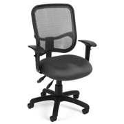 OFM Comfort Series Ergonomic Mesh Swivel Task Chair with Arms, Mid Back, in Gray (130-AA3-A01)