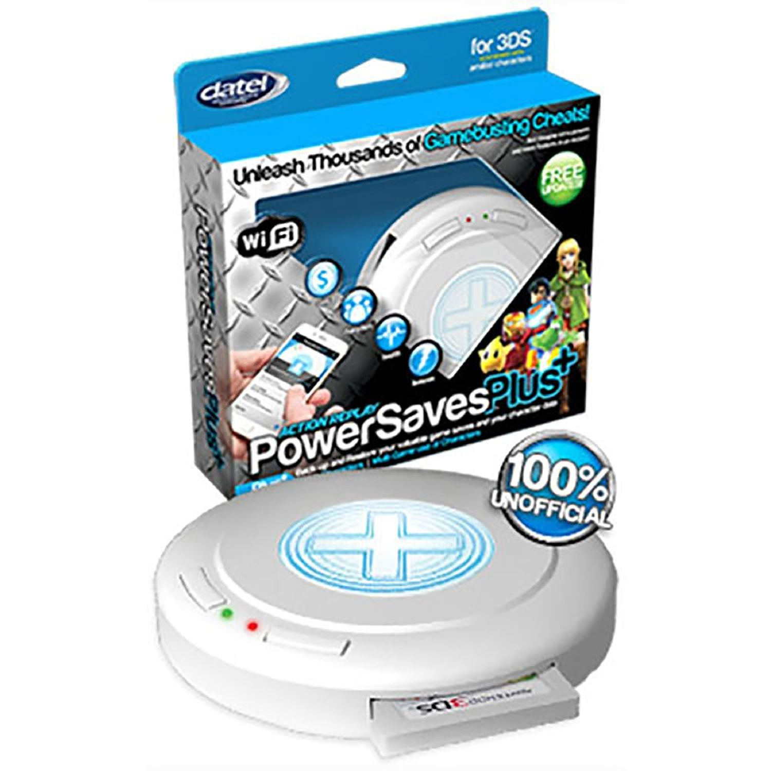 Datel Power Saves Plus Action Replay Cheat Codes For Nintendo 3DS (Wi-Fi)