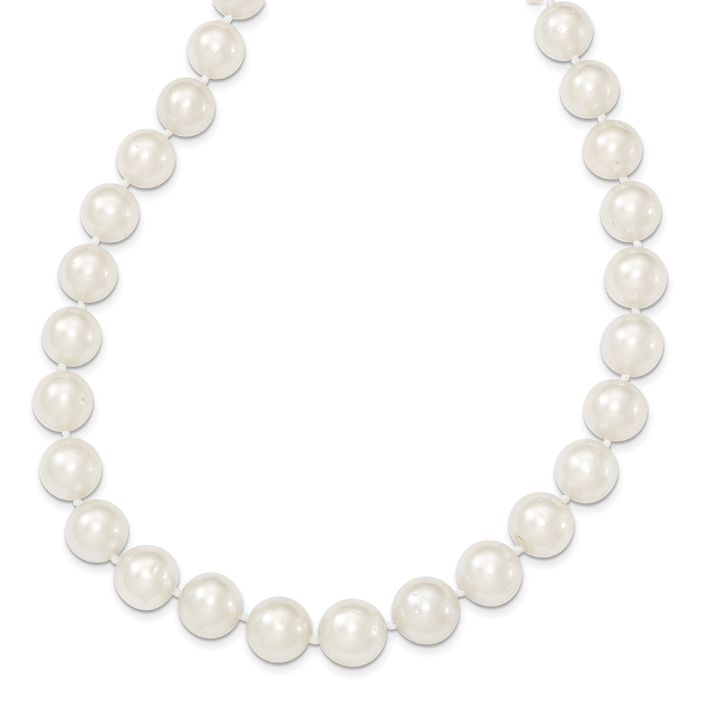 14k Yellow Gold 9.5-12mm Round South Sea Cultured Pearl Graduate Necklace XF468-18 by