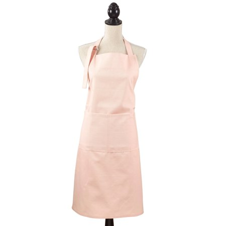100 Rose (Cuisine Denim Cooking Kitchen 100% Cotton Full Sized Apron with Large Single Front Pocket (Rose) )