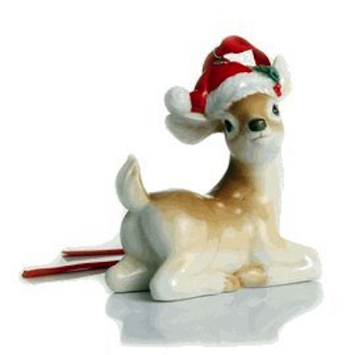 Franz Porcelain - Ornament - Holiday Greetings Deer