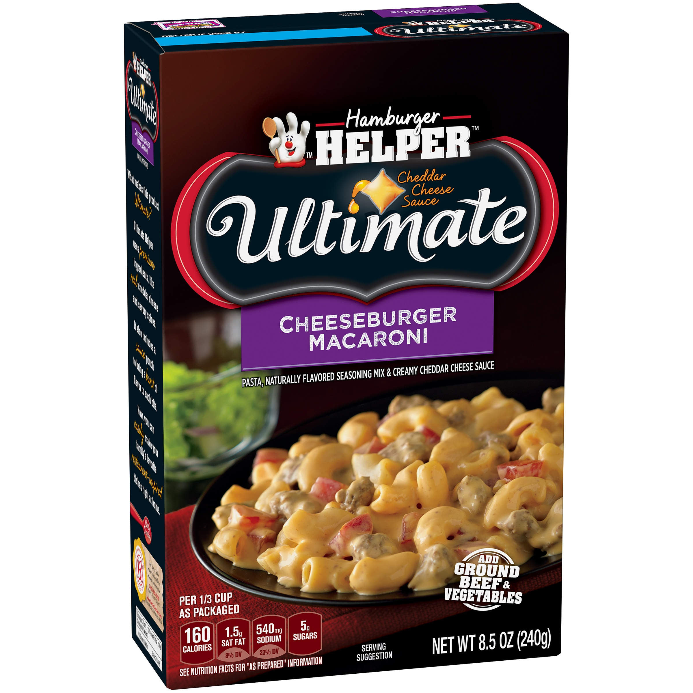 Betty Crocker Ultimate Cheeseburger Macaroni 8.5 oz Box