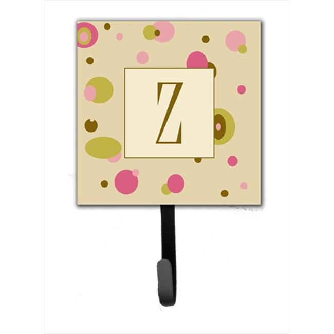 Letter Z Floral Monogram Initial Purse Bag Hanger Holder Hook