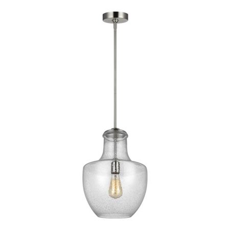 Murray Feiss Lighting Baylor - One Light Pendant, Satin Nickel Finish with Clear Seeded (Murray Feiss Wb1318spb Willow)