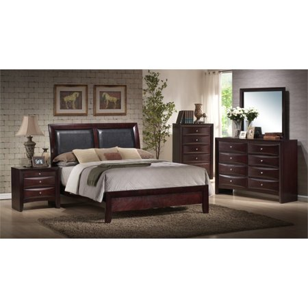 Picket House Furnishings Madison 5 Piece Queen Bedroom Set in Mahogany