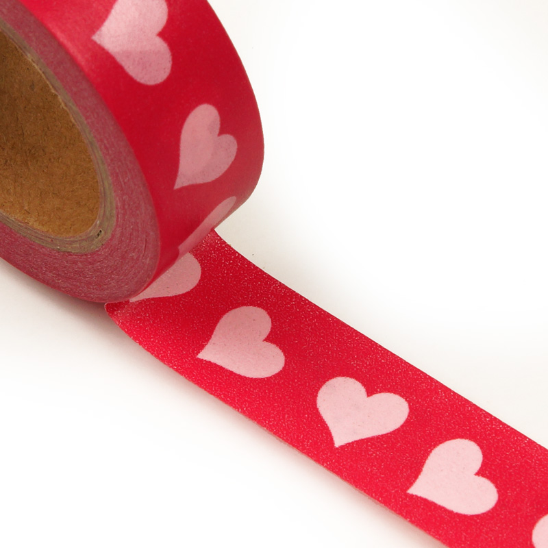 "9/16"" X 10 Yards Red Metallic Sands Heart Washi Tape  by Paper Mart"