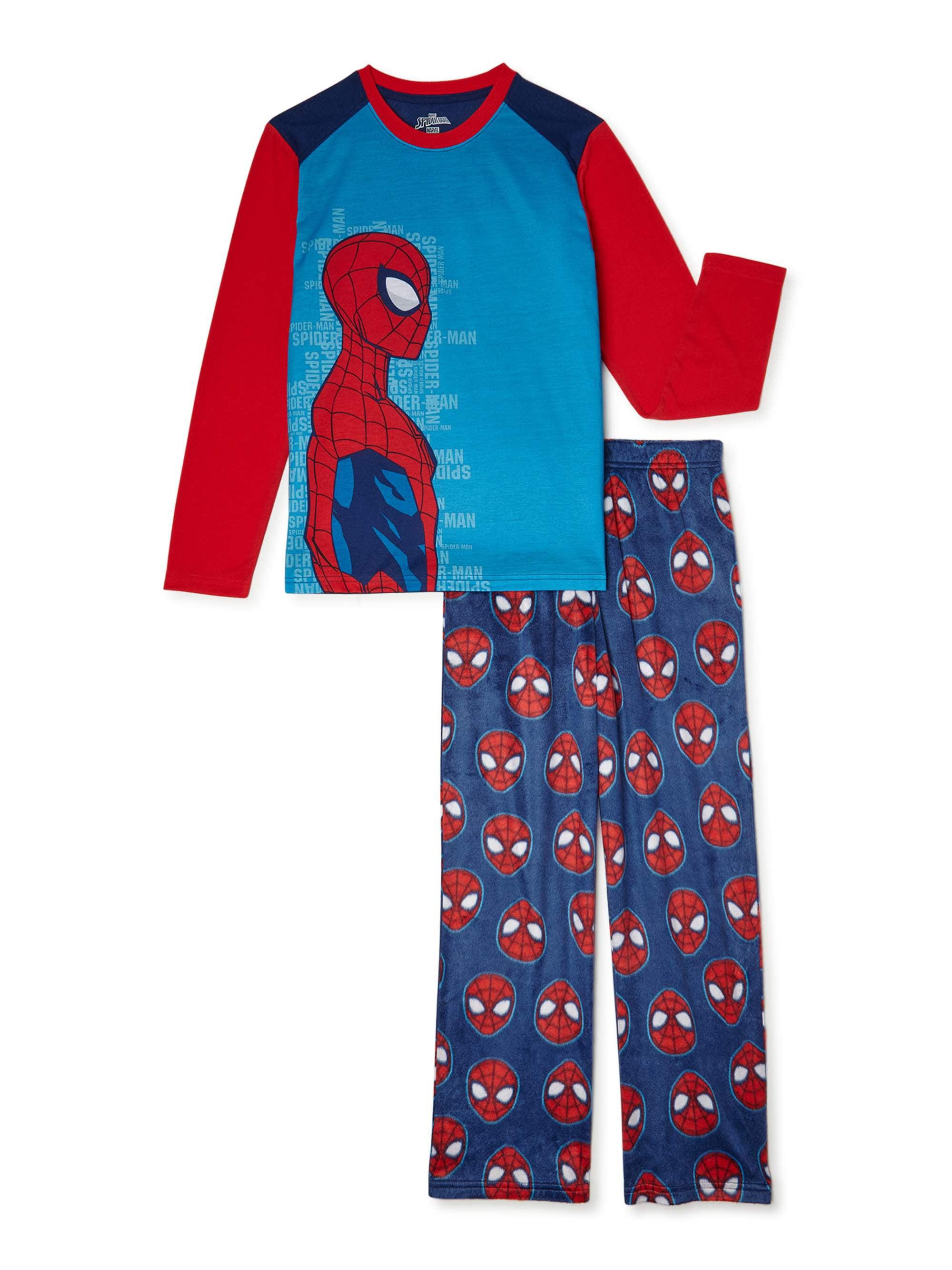 8 FREE SHIPPING 10//12 Sizes 4//5 6//7 Spider-Man Boys Pajama Set 2-Piece