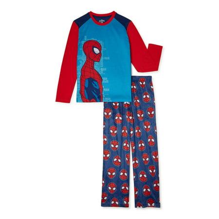 Spiderman Boys Long Sleeve Pajama Set, 2-Piece, Sizes 4-12