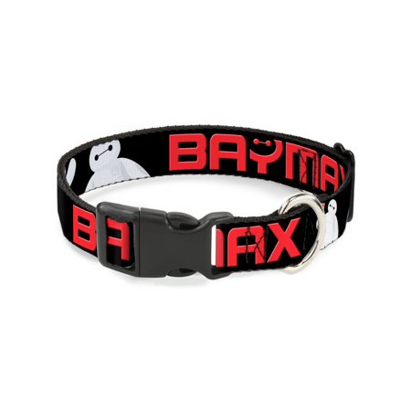 Buckle-Down Baymax Poses Black/White/Red Disney Dog Collar Plastic Clip Buckle, Large (Style Collar Clips)