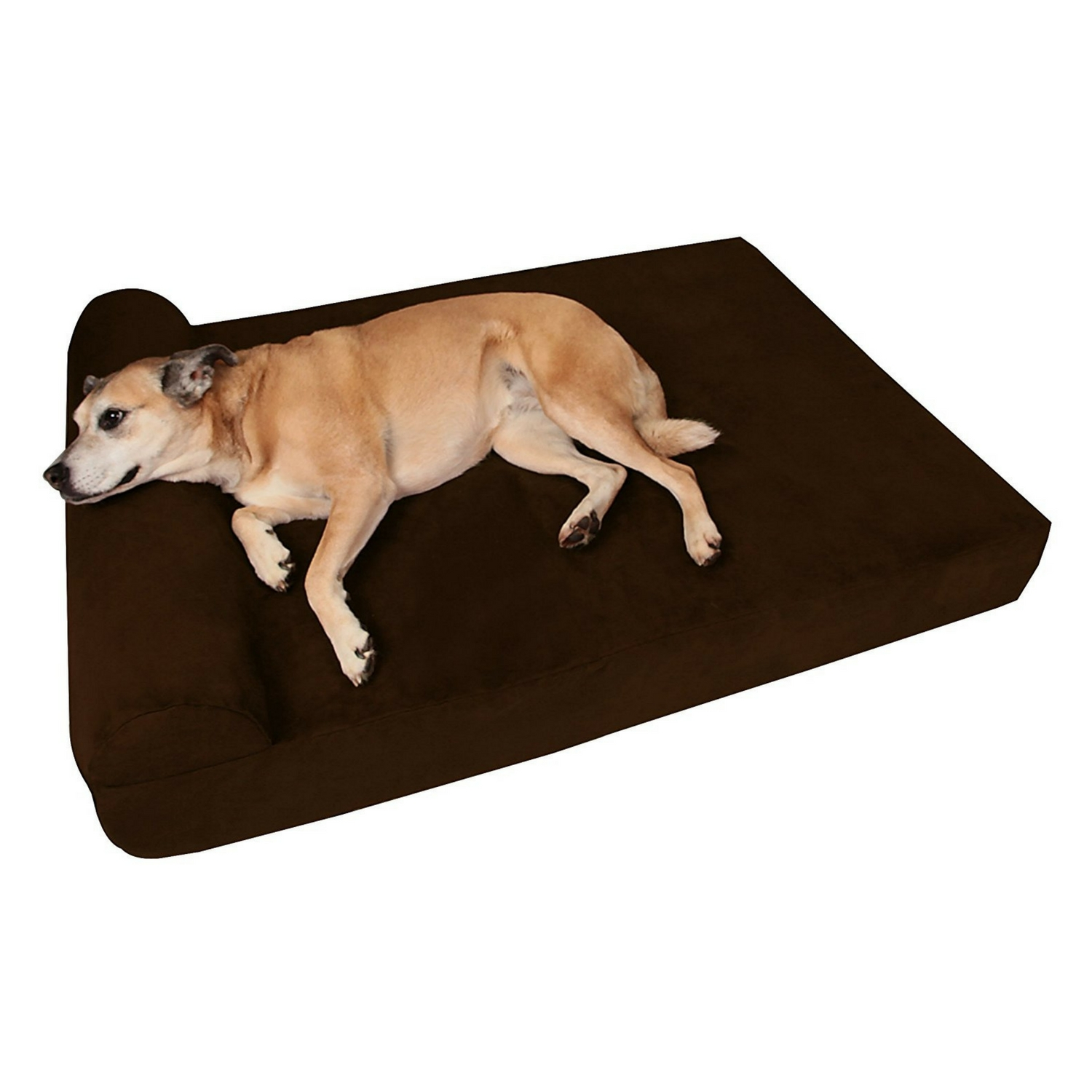 """Big Barker 7"""" Pillow Top Orthopedic Dog Bed for Large and Extra Large Breed Dogs (Headrest Edition)"""