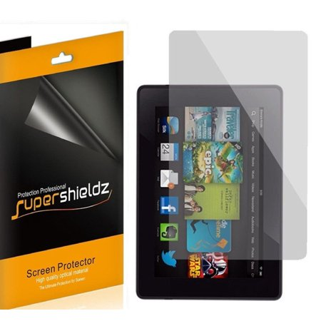 "[3-Pack] Supershieldz for Amazon Kindle Fire HD 7"" 7 inch Tablet (2013 Release) Screen Protector, Anti-Bubble High Definition (HD) Clear Shield"