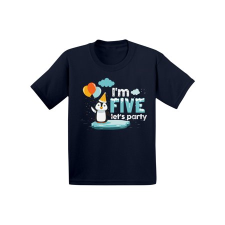 Christmas Gifts For 8 Yr Old Girl (Awkward Styles Penguin Birthday Party Toddler B Day Shirt Penguin Shirts for Boys Shirt for Girls 5th Animal Birthday Party Outfit I'm Five Shirt Gifts for 5 Year Old 5th)