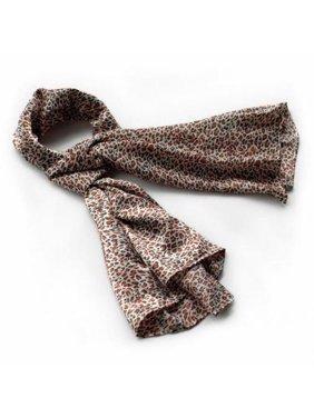 BRA-SCA01021-S Blancho Tangerine Graceful Fashion Natural Leopard Pattern Silk Scarf/Wrap/ShawlSmall