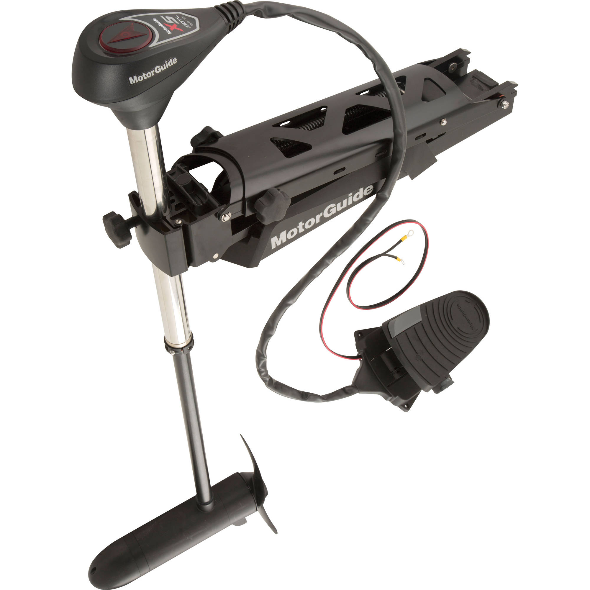 "MotorGuide X5 940500080 12V Foot-Control Bow-Mount Digital Variable Speed Freshwater Trolling Motor with Sonar 45"" Shaft, 55 lb Thrust"