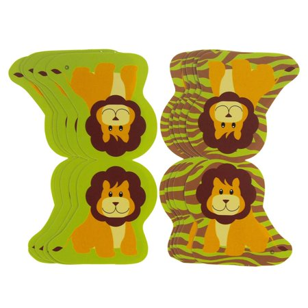 Astounding Lion Safari Animal Paper Cut Outs Green 5 1 2 Inch 10 Count Download Free Architecture Designs Meptaeticmadebymaigaardcom