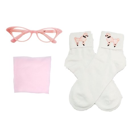 Kids 50s Outfit (Child 3 pc - 50's Accessory Set - Light)
