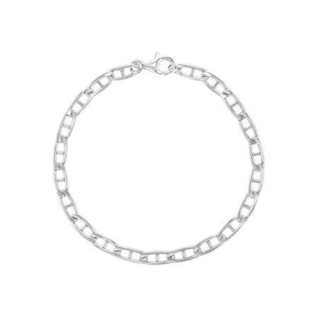 925 Sterling Silver Classic Chain Link Bracelet for Kids Girls Boys 6