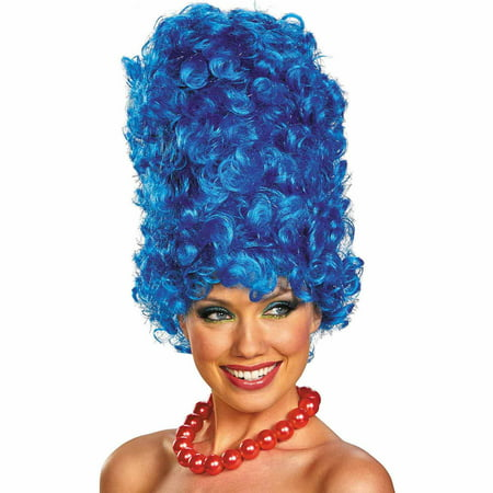 The Simpsons Marge Deluxe Glam Adult Wig Halloween Costume Accessory
