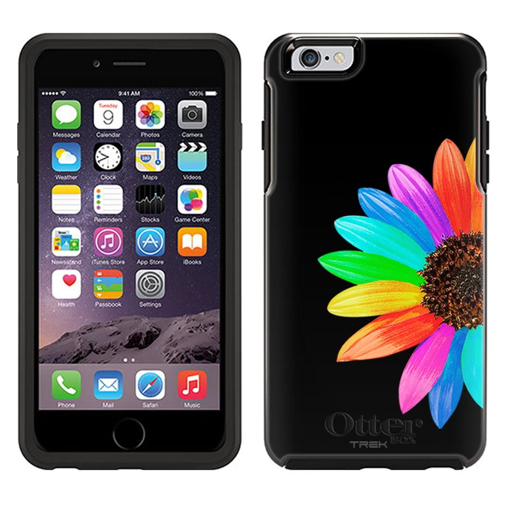 OtterBox Symmetry Apple iPhone 6 Plus Case - Colorful Sun Flower on Black OtterBox Case