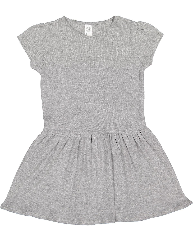 Toddler Baby Rib Dress - HEATHER - 2T