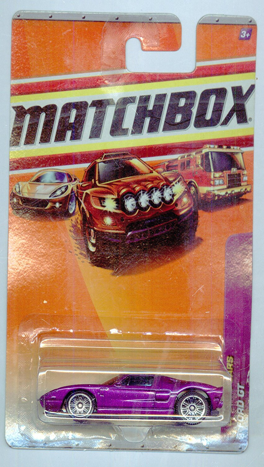 2010-13 100 Sports Cars PURPLE Ford GT 1:64 Scale, Matchbox By Matchbox by