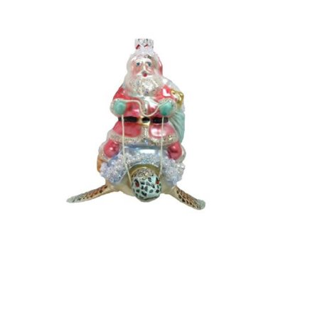 Turtle Lawn Ornaments (December Diamonds Santa Claus Riding Turtle Christmas Tree Ornament Sea Life)