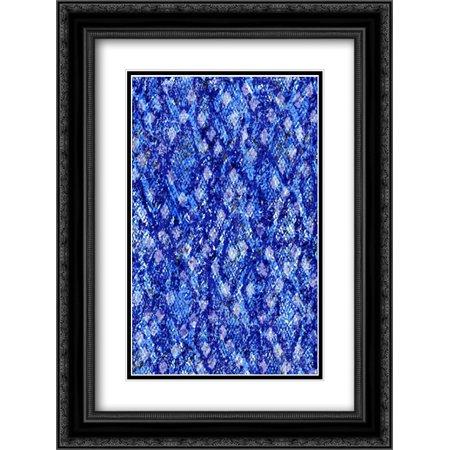 Snake Skin I 2x Matted 18x24 Black Ornate Framed Art Print by Biscardi, Nicholas Black Snake Skin Print
