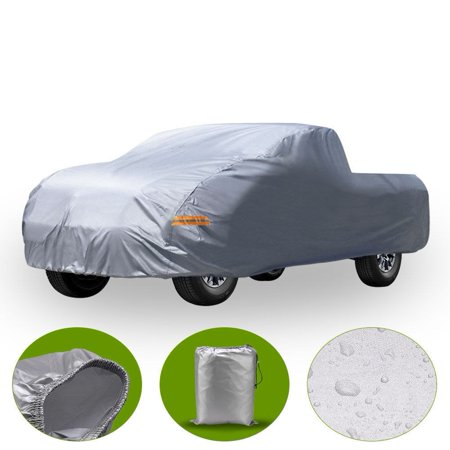 All Weather Protection Waterproof Pickup Truck Cover Universal Fit Breathable Rain Sun UV Rays Snow Dustproof Outdoor Fits for Chevrolet, Dodge-Ram 50,