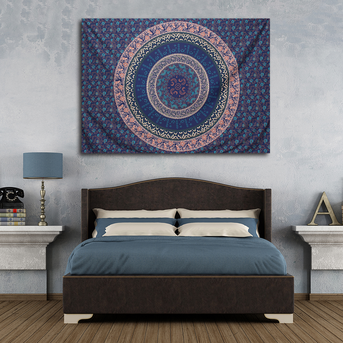 Indian Hippie Queen Tapestry Mandala Bohemian Wall Hanging Bedspread Dorm Throw by