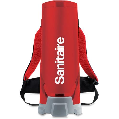 "Sanitaire 10Q Backpack Vacuum - 1.50 gal - 60"" Hose Length - HEPA - Red"