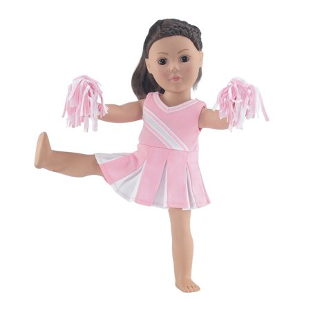 18 Inch Doll Pink Cheerleader Outfit | Clothes Fit 18