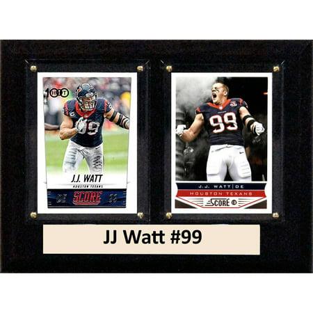 Houston Oilers Memorabilia - C&I Collectables NFL 6x8 JJ Watt Houston Texans 2-Card Plaque